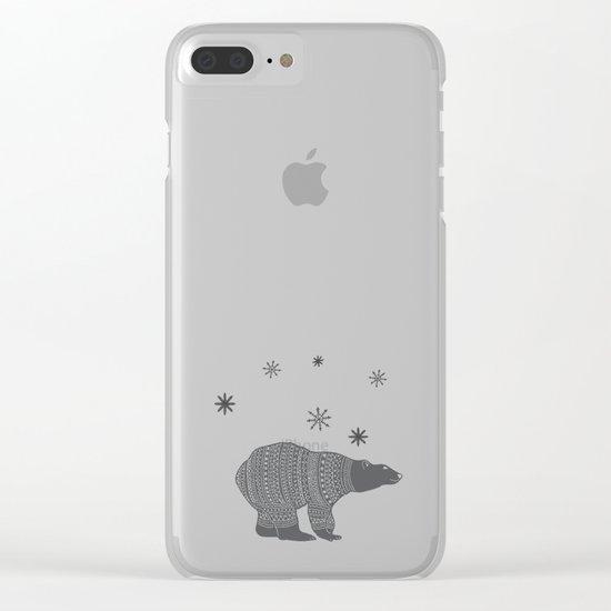 Polar bear - Animal watercolor illustration Clear iPhone Case