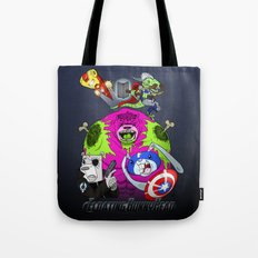 Floating BunnyHead + Avengers Tote Bag