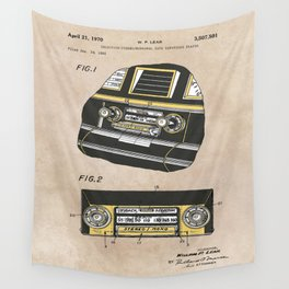 patent Selective stereo tape cartridge player Wall Tapestry