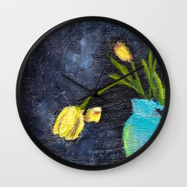Vase and Flowers Wall Clock
