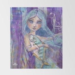 Plenty more Fish in the Sea by Jane Davenport Throw Blanket
