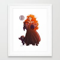 brave Framed Art Prints featuring Brave by samanthadoodles