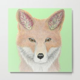 All Ears Fox Metal Print