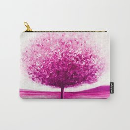 Pink tree landscape Carry-All Pouch