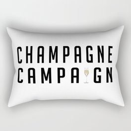 Champagne Campaign Rectangular Pillow