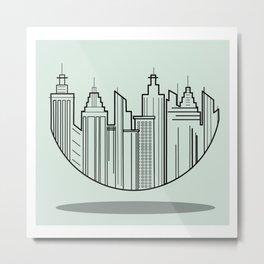 Floating City Metal Print
