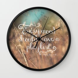 Strains of Silence by Bethany Kaczmarek | Quote 2 Wall Clock