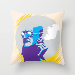 James Augustine Aloysius Joyce Throw Pillow