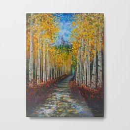 Nelly Creek painting of Uncompahgre National Forest Metal Print