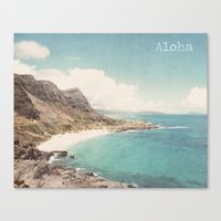 aloha Canvas Prints featuring Aloha by Retro Love Photography