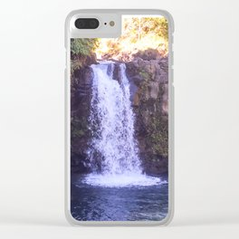 Road To Hana Waterfall Clear iPhone Case