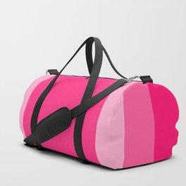 Pink Square Design Duffle Bag