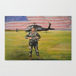 Static Line, Blackhawk, Okinawa Japan Canvas Print