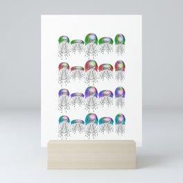JELLYFISH LINEUP Mini Art Print