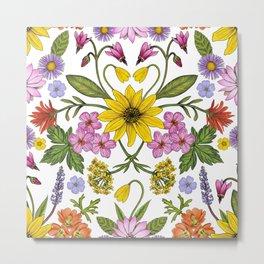Montana Wildflowers Metal Print