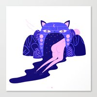 magical girl Canvas Prints featuring magical girl by Alba Blázquez