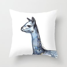 Vicuna Watercolor Sketch Throw Pillow