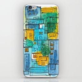 Blues Street iPhone Skin