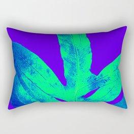 Blue Ultraviolet Green Earth Day Fern Rectangular Pillow