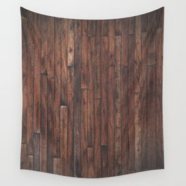 Cherry Stained Wood Barn Board Texture Wall Tapestry