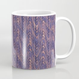 End of Silence, Dark Purple Neutral Graphic Design, Eclectic Texture Pattern Coffee Mug