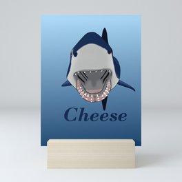 Shark Selfie Say Cheese Mini Art Print