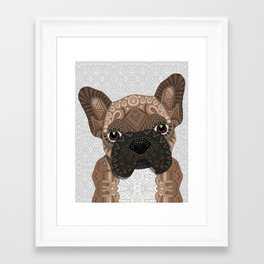 Brown Frenchie Puppy 001 Framed Art Print