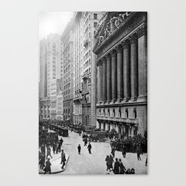 Vintage Wall Street NYC Photograph (1921) Canvas Print