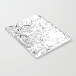 Austin White Map Notebook