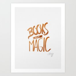 Books are Magic Art Print