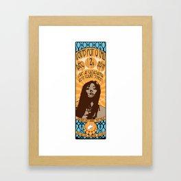 Verns Pot O' Chili Gig Poster Framed Art Print