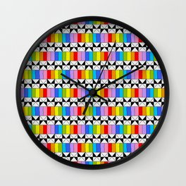 Tribute to mondrian 4- piet,geomtric,geomtrical,abstraction,de  stijl,composition. Wall Clock