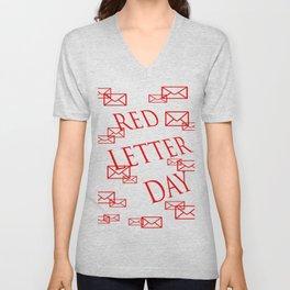 Red Letter Day Unisex V-Neck
