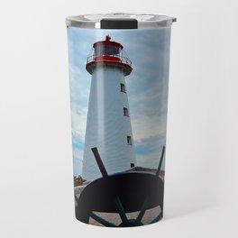 Sailing to Point Prim Lighthouse Travel Mug