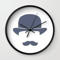 gentleman Wall Clocks featuring Gentleman by Jacob Wise