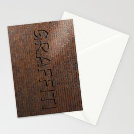 Anti Graffiti 3D Brick Wall Stationery Cards