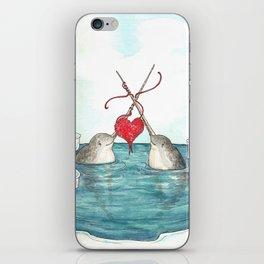 Knitting Narwhals iPhone Skin