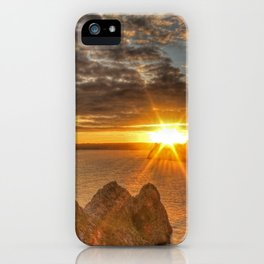 Sunburst Sunset Gower iPhone Case