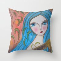 inspiration Throw Pillows featuring Inspiration by Dulcamara