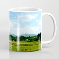 scotland Mugs featuring Highlands Scotland by seb mcnulty