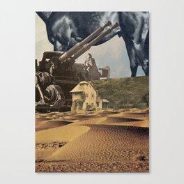 House In Desert Canvas Print
