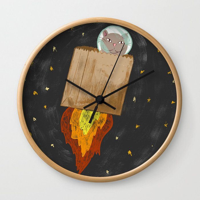 Astro-cat Wall Clock