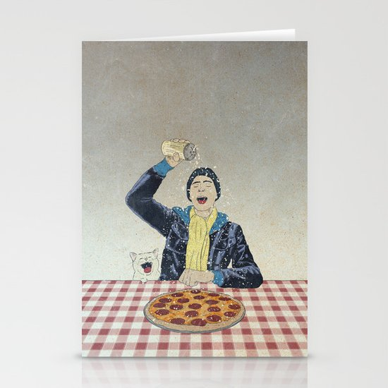 Make it snow... on my PIZZA! Stationery Cards