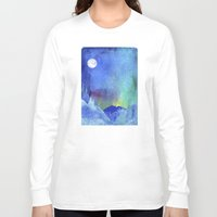 northern lights Long Sleeve T-shirts featuring Northern Lights by Ricardo Moody