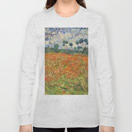 Poppy Field by Vincent van Gogh, 1890 painting Long Sleeve T-shirt
