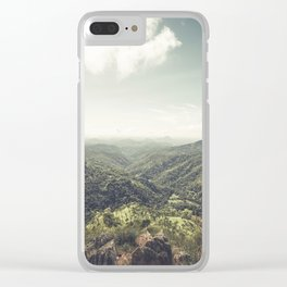 Edge of World Clear iPhone Case