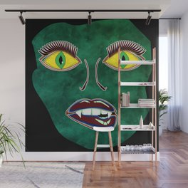 Scary Face (Mask) Wall Mural