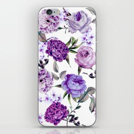 Elegant Girly Violet Lilac Purple Flowers iPhone Skin