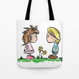 Lil Emo Hipsters In Love Tote Bag