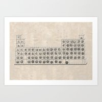 periodic table Art Prints featuring Periodic table by Florian Pasquier